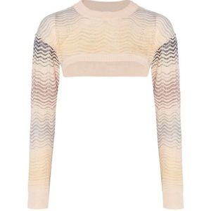 M MISSONI CROCHETED CROPPED SWEATER TOP